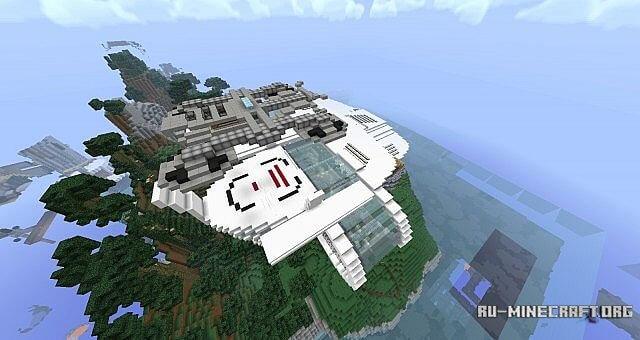 Карта башня мстителей для майнкрафт