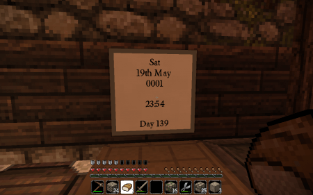 Скачать CalendarGUI для Minecraft 1.5.2 бесплатно