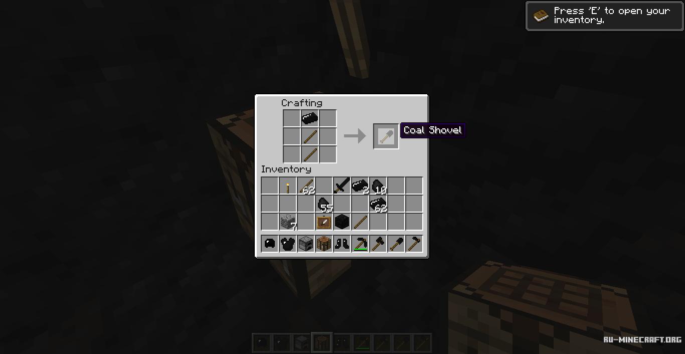 Скачать мод B0bGarys Coal Tools! для minecraft 152 бесплатно -> Pia De Banheiro Minecraft