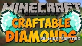Скачать мод Craftable Diamonds для minecraft 1.5.2 бесплатно