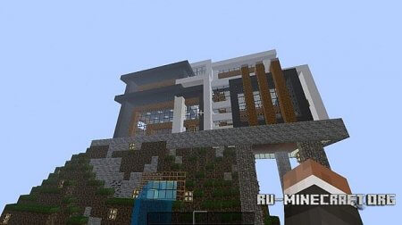 ������� Modern Hillside Mansion ��� Minecraft