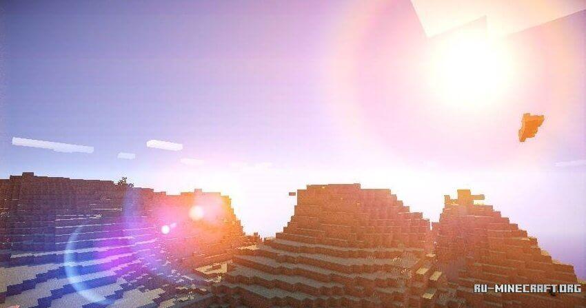 солнце в майнкрафт круглое рассчитывайте
