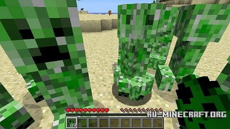 Скачать Peaceful Creepers для Minecraft 1.5.2 бесплатно