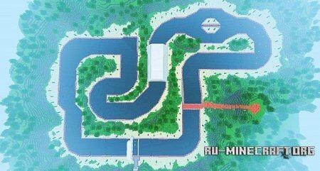 Скачать карту Mario Kart для Minecraft
