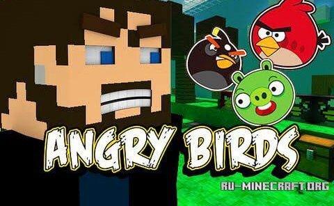 Скачать angry birds для minecraft 1 6 2