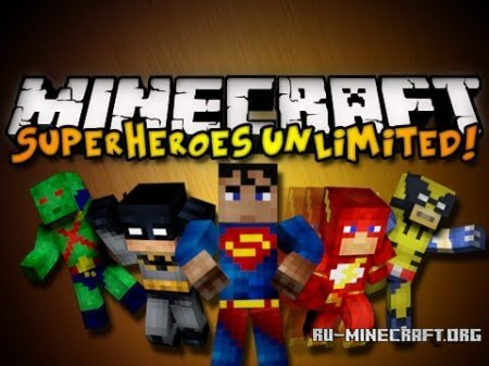 Скачать Superheroes Unlimited Mod для Minecraft 1.6.2
