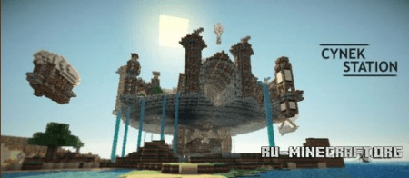 Скачать Cynek-Station, The Flying Fortress для minecraft