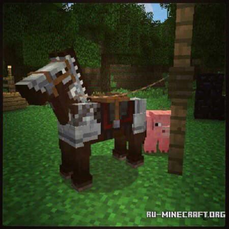 Броня на лошади Minecraft