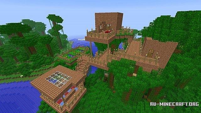 Скачать Tree forts для Minecraft