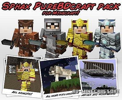 Скачать Sphax PureBDCraft для Minecraft 1.6.4