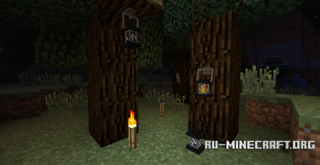 Скачать Unlit Torches and Lanterns для Minecraft 1.6.2
