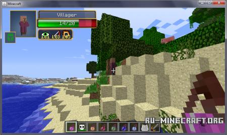 Скачать Hit Splat Damage Indicators для Minecraft 1.6.4