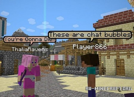 ������� Chat Bubbles Mod ��� Minecraft 1.6.4