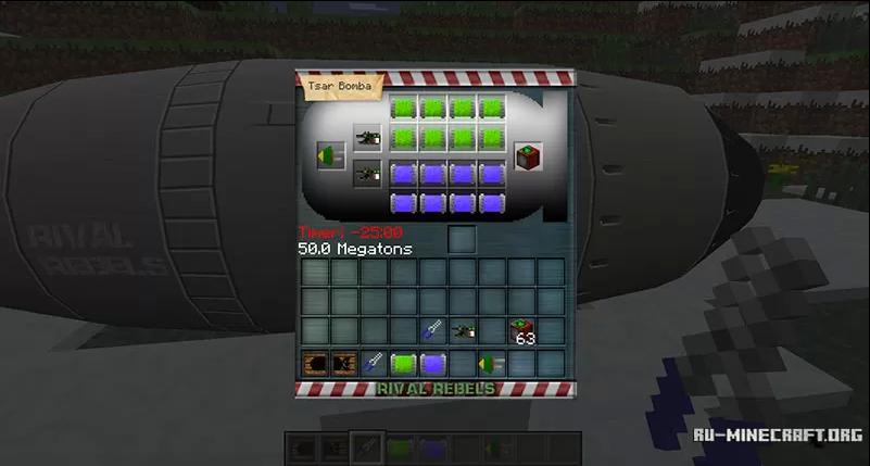 Майнкрафт моды 1 7 10 ядерная бомба