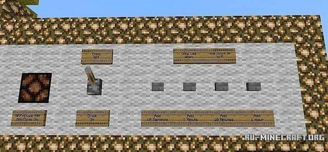 карту Clock для Minecraft