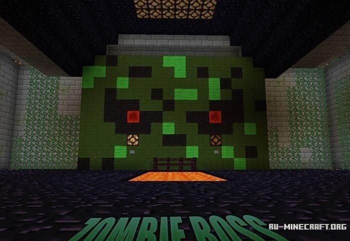Скачать карту zombie boss для minecraft