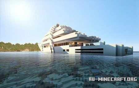 Скачать карту Luxury MegaYacht для Minecraft