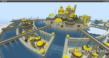 Скачать карту City of Atlantia для Minecraft