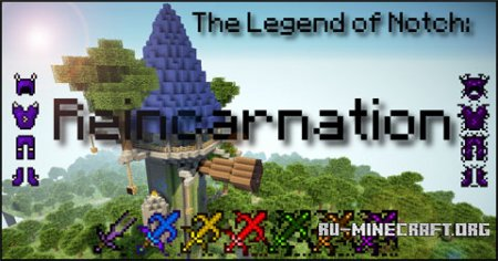Скачать The Legend of Notch: Reincarnation для Minecraft 1.6.4