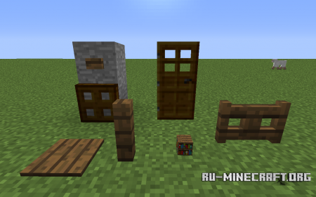 Скачать More Multicolored Wood Items для Minecraft 1.6.4
