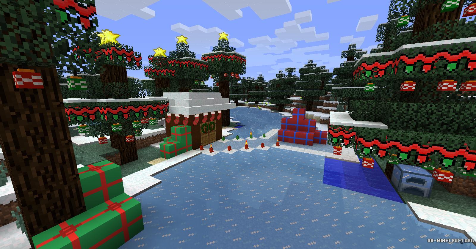 Скачать minecraft с новогодним модом