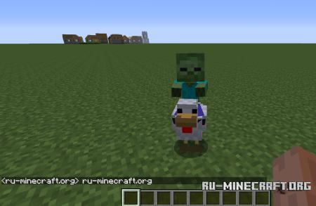 Зомби-наездник в Minecraft