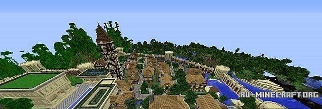 Карта для майнкрафт 1.7.10 деревня