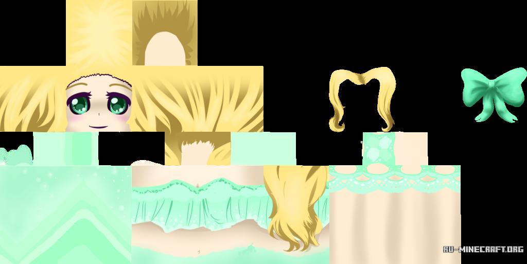 скины майнкрафт для девушек аниме #7