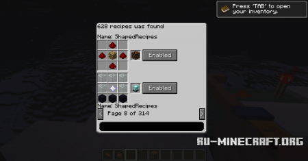 ������� Crafting Manager ��� minecraft 1.6.2