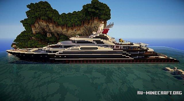 скачать карту для Minecraft яхта - фото 6