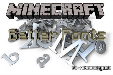 ������� Better Fonts ��� Minecraft 1.6.4