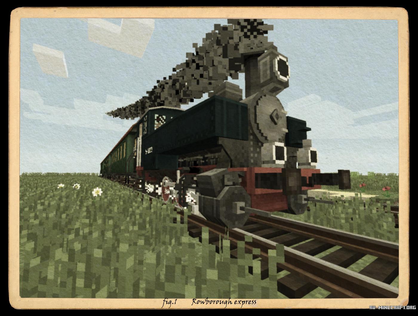 Моды для майнкрафт 1.7.2 на поезда