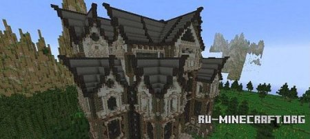 ������� Slender's Mansions - A Gothic Style Build ��� minecraft