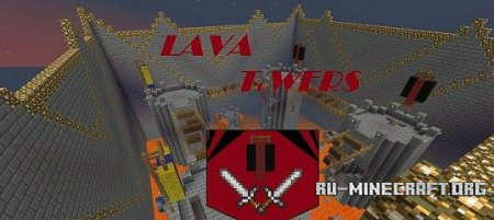 Скачать Lava Towers [PvP Lan Map] для minecraft