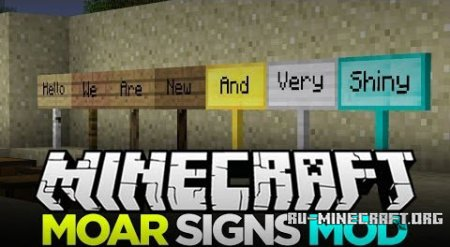 ������� MoarSigns ��� minecraft 1.6.4