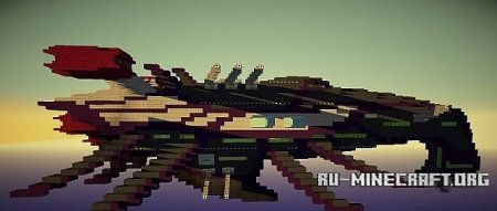 Скачать карту  Nelsadornian Battle Cruiser для minecraft