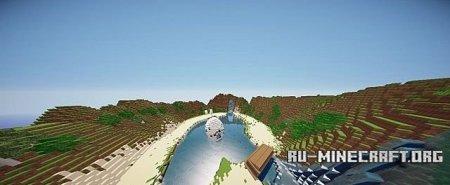 Скачать карту  Mario Kart Yoshi Falls для minecraft