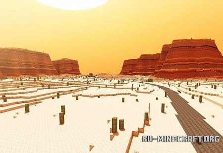 Скачать Arizona - Custom Terrain test - Hoodoo Desert для Minecraft