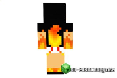 скины для девочек в майнкрафт с ушками и огнеными руками #10