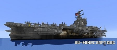 �������  USS Enterprise CVN-65 ��� Minecraft