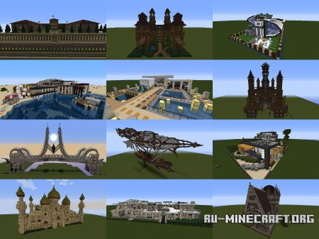 Скачать Instant Structures by MaggiCraft для Minecraft 1.7.10