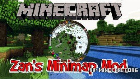 Скачать Zan's Minimap для Minecraft 1.8