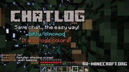 Скачать ChatLog Mod для Minecraft 1.8