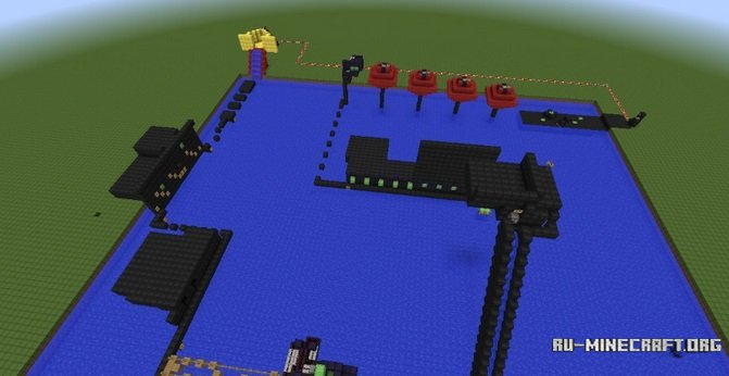 how to build a obstacle course in minecraft pe
