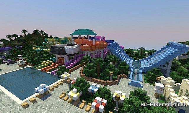 Майнкрафт карты аквапарк