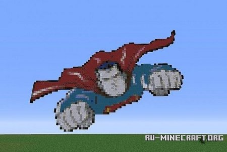 Скачать  SuperMan Pixel Art для Minecraft