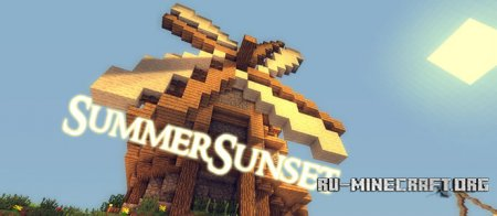 Скачать Summer Sunset Shaders для Minecraft 1.7.10