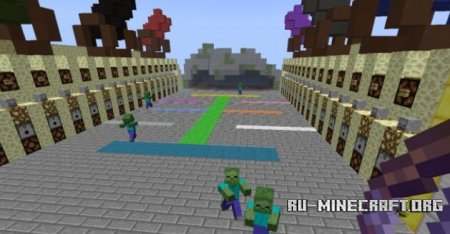 Скачать Blocks vs Zombies для Minecraft