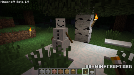 Скачать Pumpkin-less Snow Golem для Minecraft 1.8