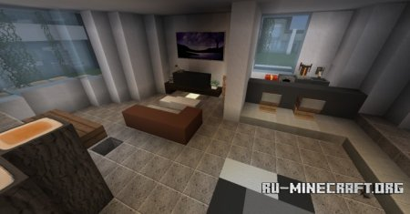 ������� Moderne House With Field ��� Minecraft